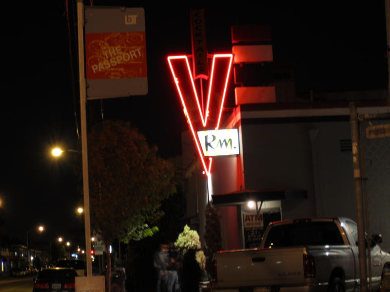 this is my local bar that is right down the street. recently we were in there with a shit ton of bladers...I'm talking basically the whole Valo team, AJ's straight jack it tour crew, and all the local long beach dudes. So this guy started shit with Julio. Bad idea. Dude got what was coming to him to put it lightly. Haha. I guess after this happened word got around, cause one of Sayer's friends that doesn't skate told him that he heard that V room was a blader bar. Haha.