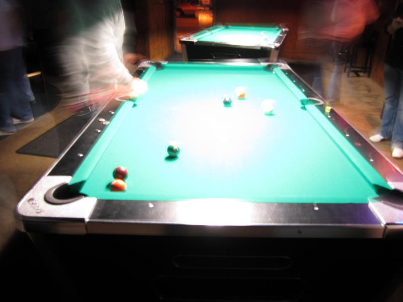 Most nights are completely uneventful and end up looking like this. Blurry pool.