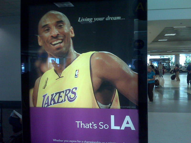 I am a huge laker fan, I believe in living your dreams, and I live in LA, so I took a picture of this poster I saw at LAX.