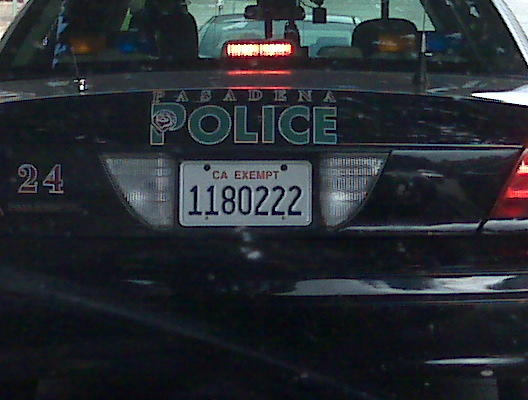 Again not too crazy, a cop in front of me in Pasadena.