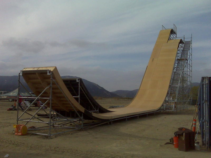 this is the first mega ramp I got to skate. It was in Temecula at a race track. This is where we did all the practice sessions for the nitro live shows. Shit is probably the most fun thing I have ever skated in my life.